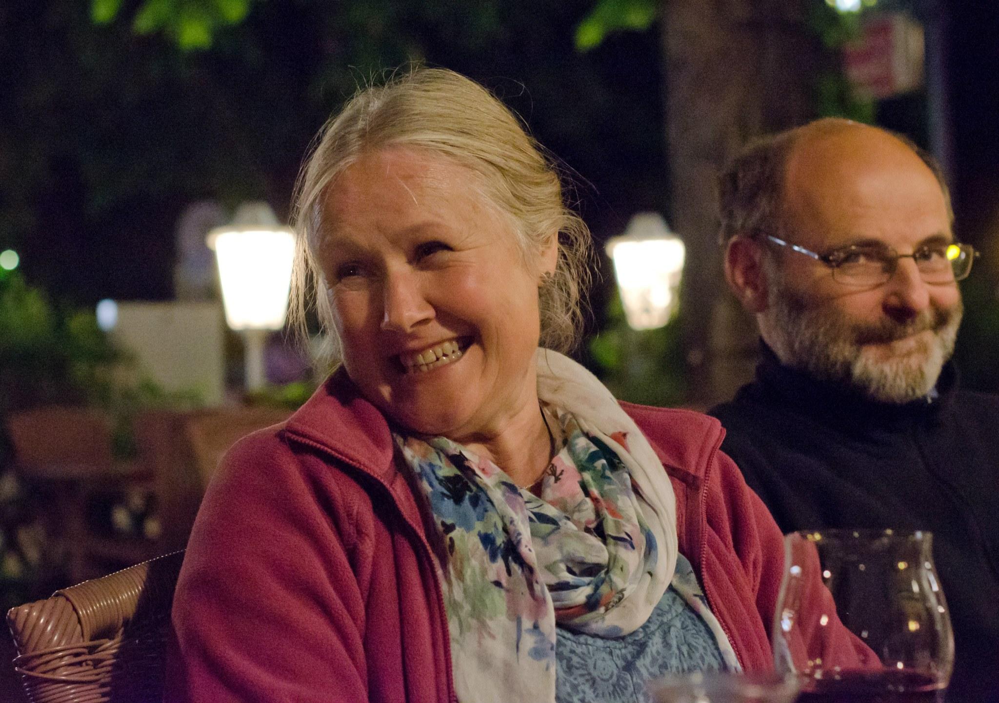 Carole at Piaggio