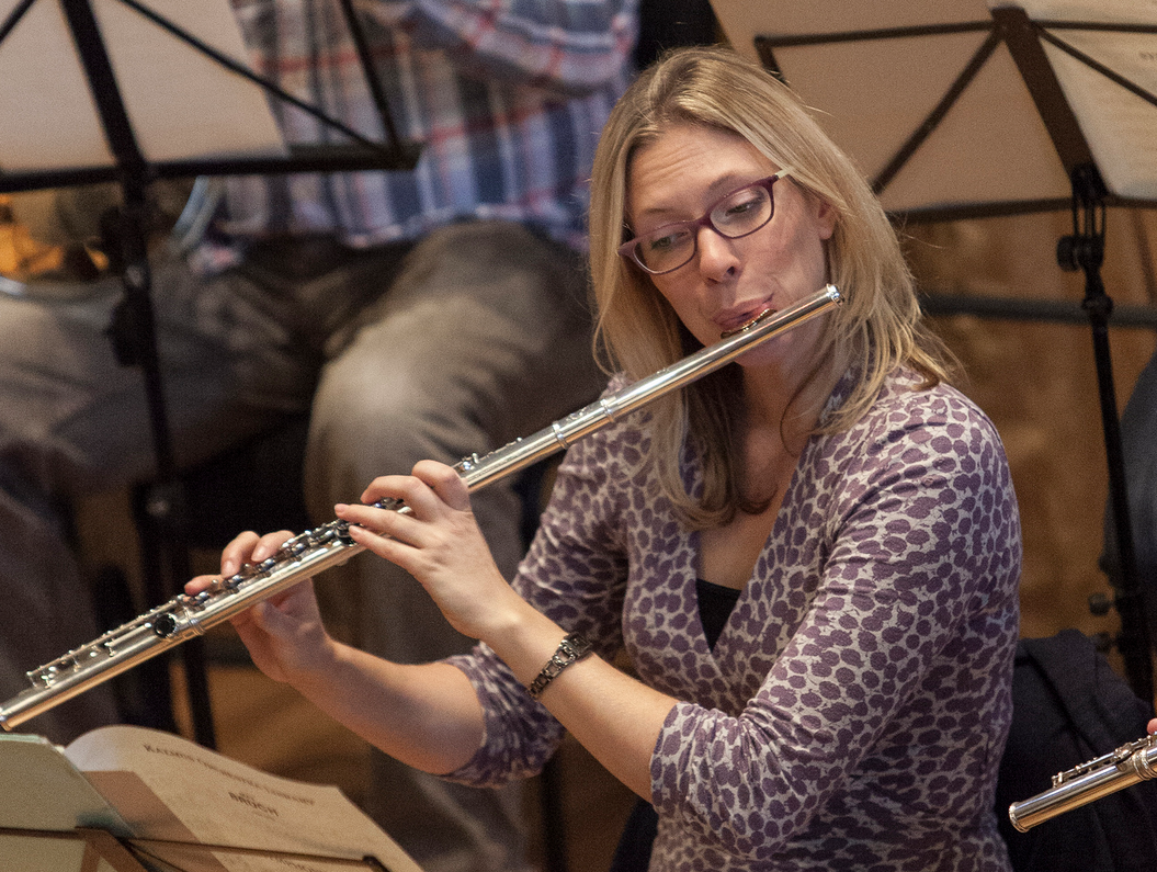 Flute in rehearsal